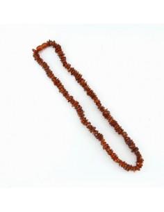 Collar Chip de Ámbar Oscuro 45cm