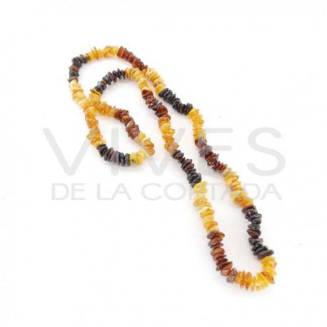 Collar Chip de Ámbar Mixto 62cm