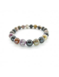 Pulsera de Turmalina Multicor Bola Lisa 10mm